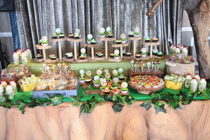 Sweet Table from a Jungle Animals Birthday Party via Kara's Party Ideas KarasPartyIdeas.com (6)