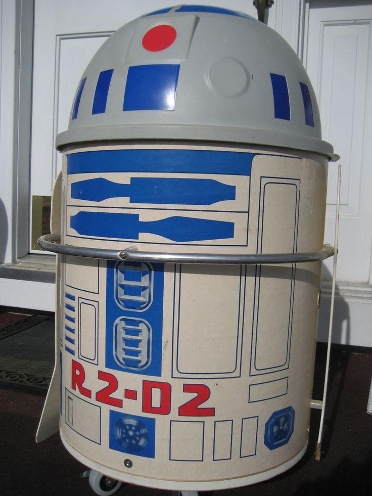 Vintage Vs Antique >> Vintage star wars r2d2 toy box artoo detoo toter chest 1983 american furniture | Somewhere To ...