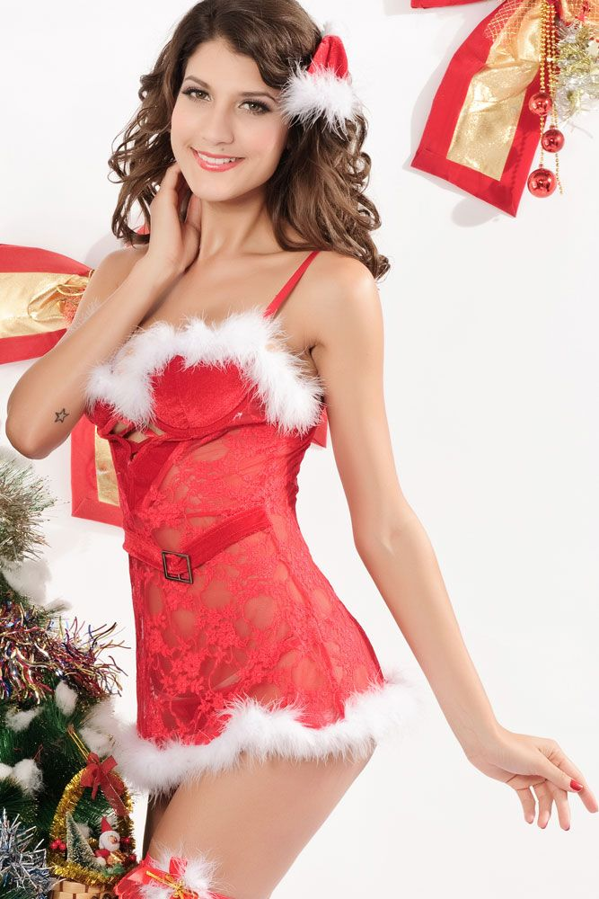 Youteen gorgeous mrs claus with perfect body lingerie fucking hispanics gallley