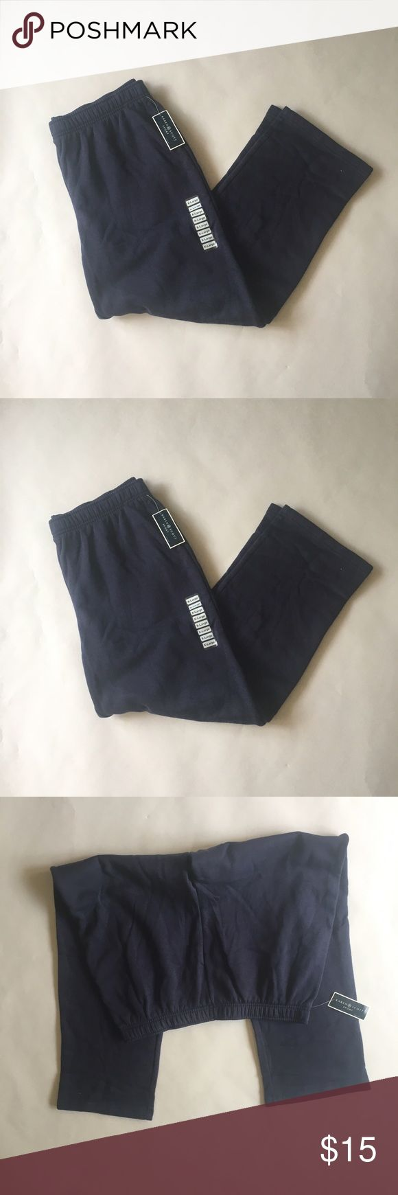 """Navy Blue athletic pants Navy blue athletic pants Brand: Karen Scott Sports via Macy's  Measurements: total length 42. Inseam 30 waist 19"""" lying flat  🚫modeling  🚫trades (askers will be ignored) or lowballing  ✅ will consider offers made through BLUE offer button.  LB ✅ great bundle discount. Macy's Pants Track Pants & Joggers"""