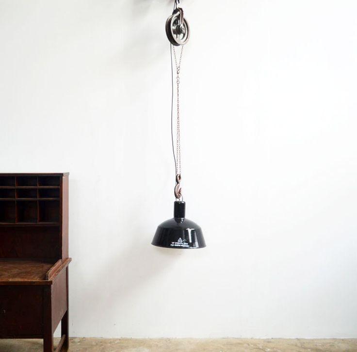 Industrielampen auf Flaschenzug aus Eisen (1 St) | artkraft Loftdesign