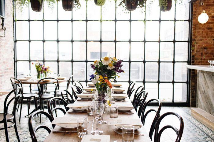 Lauren and Eric�s Hip Brooklyn Restaurant Wedding