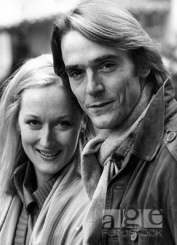 Meryl Streep with Jeremy Irons-1981-Look at that hair