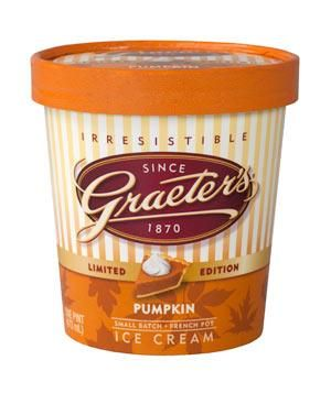 Graeter's Pumpkin Ice Cream: From a beloved Cincinnati creamery comes this lush treat. All the ingredients of classic pie filling are churned into a delicious frozen scoop.