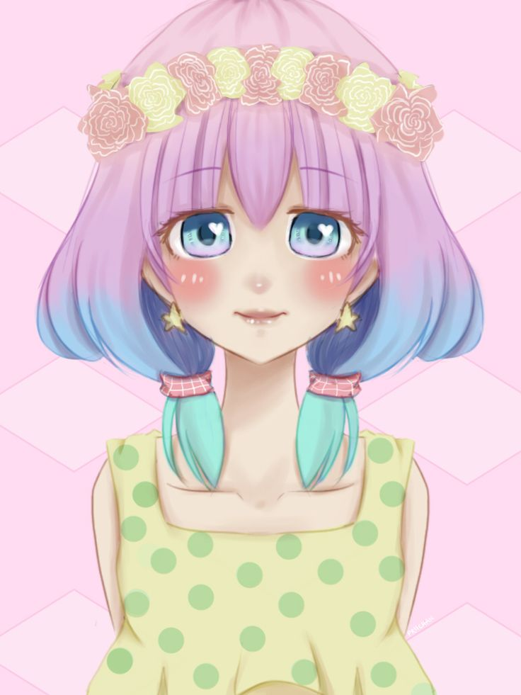 It is a picture of Sizzling Pastel Goth Girl Drawing