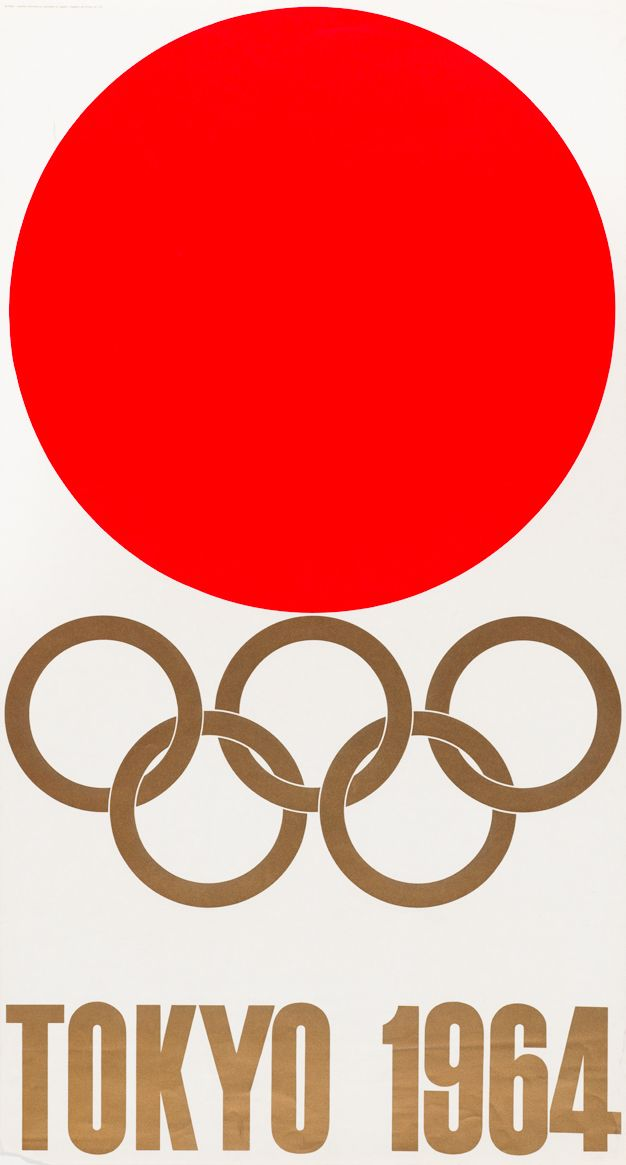 "Kamekura Yusaku. Posters for the 1964 Tokyo Olympics. 1964. Lithograph, 40 1/8 x 21 5/8"" (102 x 55 cm). The Museum of Modern Art, New York. Gifts of the designer. Courtesy Kamekura Yusaku Office and Nippon Design Center, Inc. (via TOKYO: 1955 - 1970)"