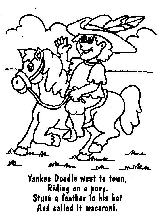 Yankee Doodle rhyme Letter Y