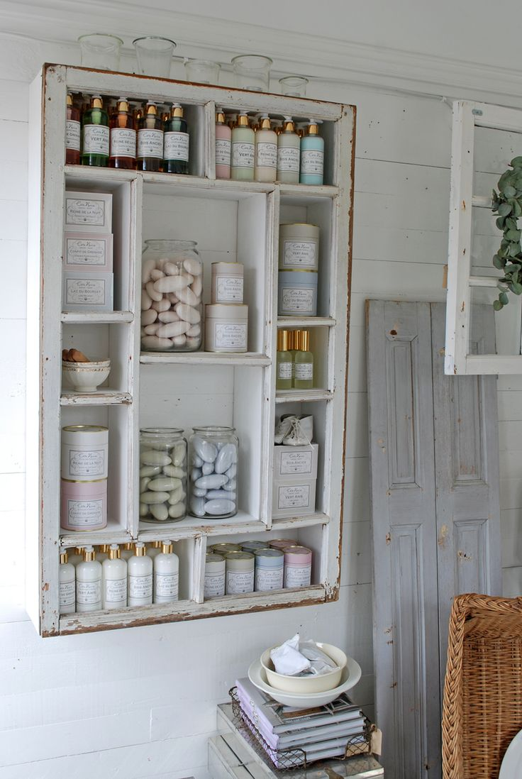 great shelving!     shabby chic #furniture #cottage #country #decor #interiors