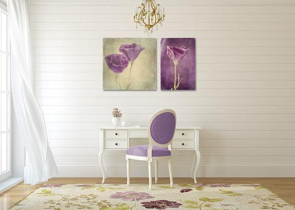 Purple Floral print set - 2 prints, various sizes
