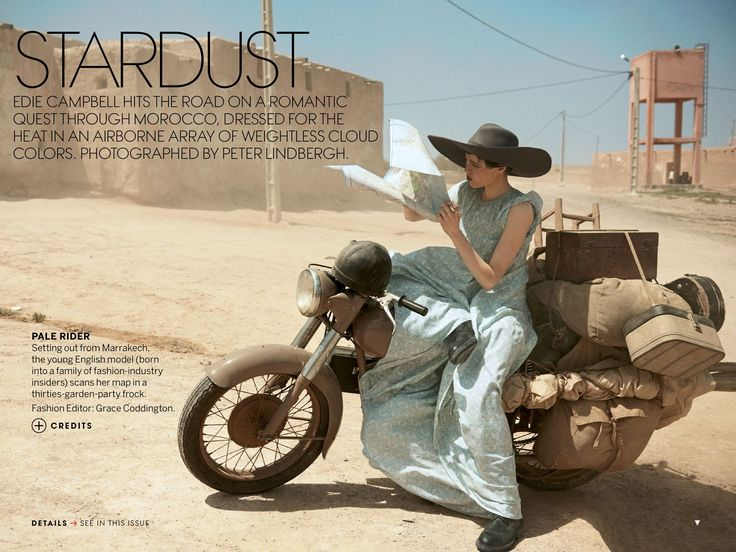 """Editorial Vogue US June 2013 """"Stardust"""" Feat Edie Campbell & Otis Ferry By Peter Lindbergh"""