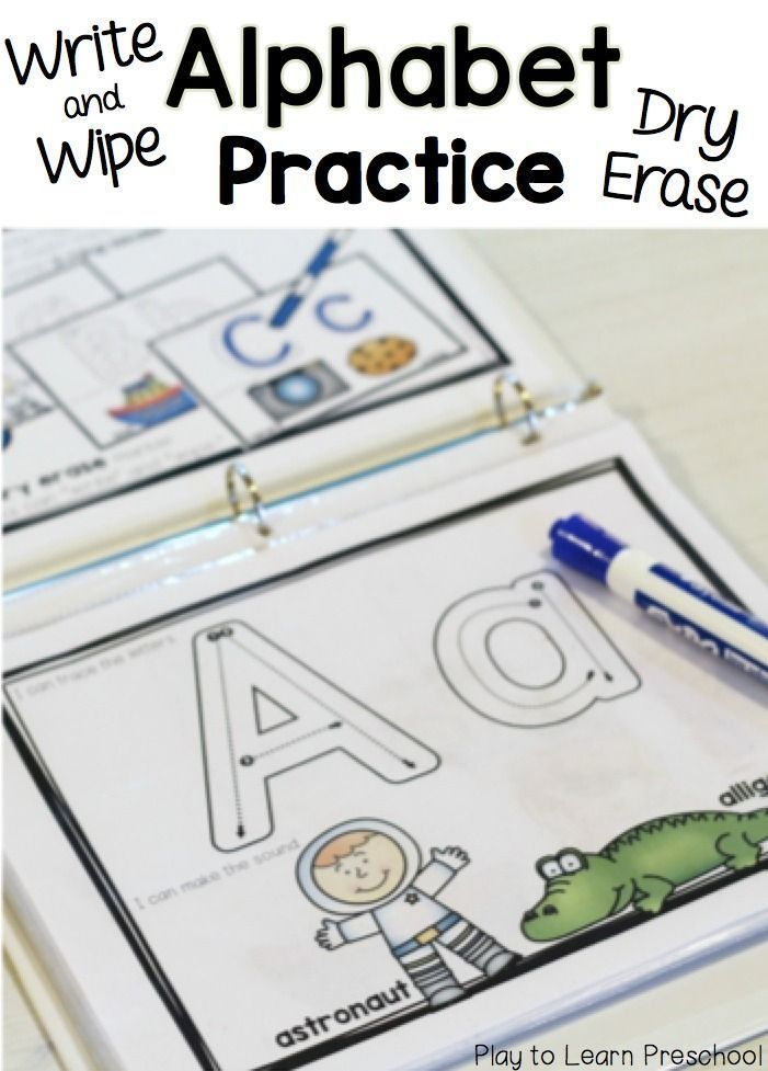 Write & Wipe Alphabet Practice pages -- my kids will love this!