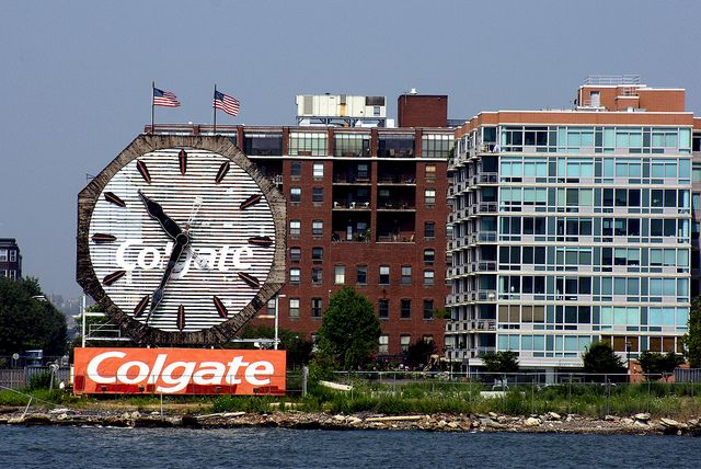One of the world's largest clocks it in #JerseyCity: The Colgate Clock!