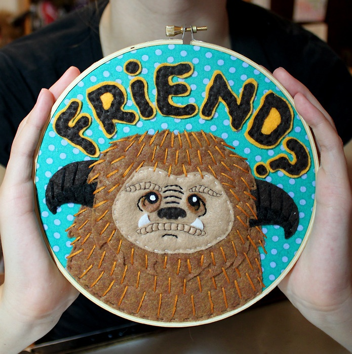 Embroidery, but cool cake idea??