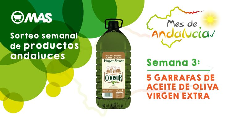¡He participado en el #sorteo de @supermercadomas! Podrás ganar una garrafa de aceite @Coosur_  #MesDeAndalucia