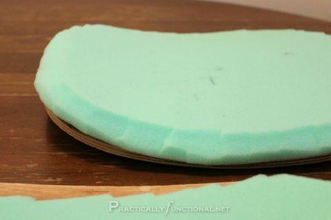 DIY Makeover Silla de escritorio: Rompiendo el borde de espuma