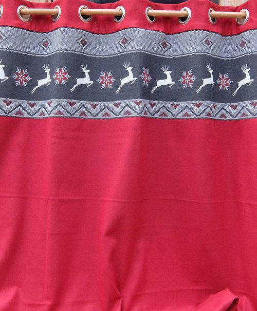 rideaux montagne, rideaux laine, rideaux sur mesure