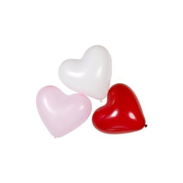 Hart Ballonnen Rood Roze en Wit *Nieuw* Ballon Feestartikelen ❤ liked on Polyvore featuring fillers