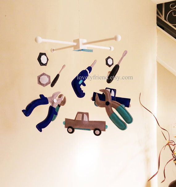 Baby Crib Mobile Baby Mobile Baby Boy Decorate by lovelyfriend