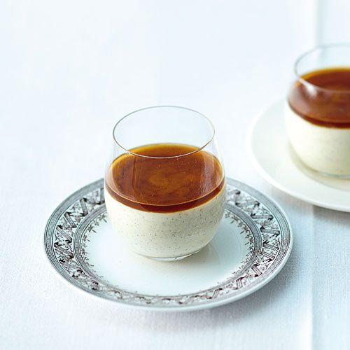 Latte-macchiato-Pudding mit Espressogelee