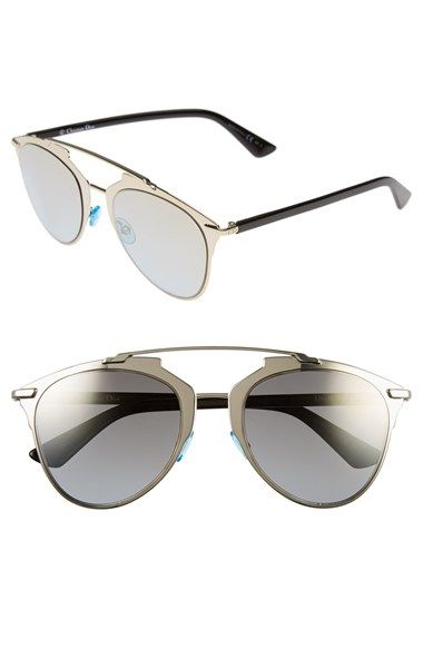 Free shipping and returns on Dior 'Reflected' 52mm Sunglasses at Nordstrom.com. Sporty and superchic, these Italian-crafted sunglasses feature a distinctive geometric browline and color-pop nose pads.