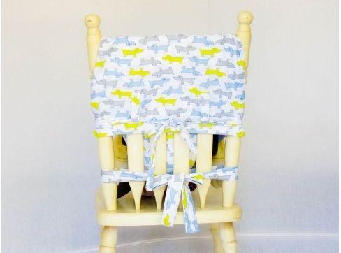 Cadeira de Alimentação Portátil Confeccionada em Tecido 100% Algodão por somente R$ 89,90! Ela é adaptável a qualquer cadeira de adulto!
