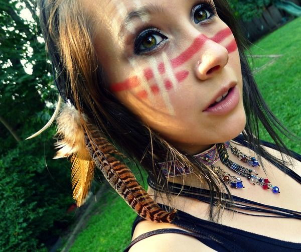 Native American makeup for costume