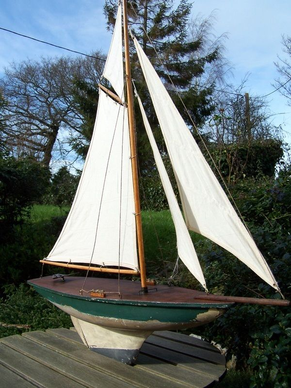 Grand voilier de bassin de 78cm pond yachts boats pinterest - Voilier de bassin ancien nanterre ...