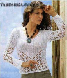 Красивый ажурный узор для вязания кофточки - Схемы вязания - Крючок и спицы