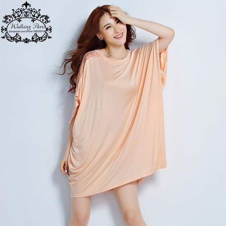 T-Shirt Chiffon Casual Solid Batwing Sleeve http://mobwizard.com/product/big-size-summer/
