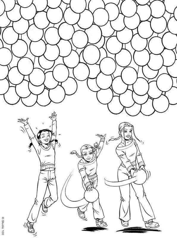 Kleurplaat Verjaardag 7 Kleurplaat K3 Kids N Fun Kleurplaten En Wallpapers