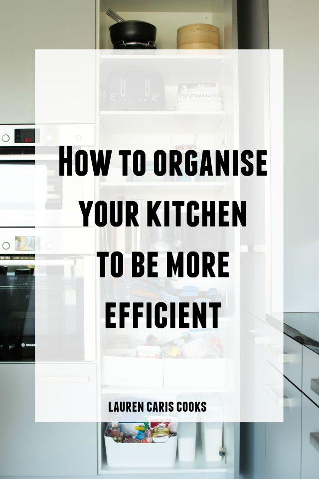 Click through for a useful video full of actionable tips to show you how to organise your kitchen! Being organised doesn't have to be difficult! Click through to watch the full video!