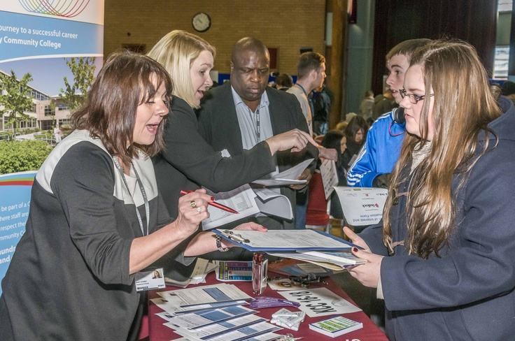 Information about apprenticeships and training opportunities was available at the event.  For more information about other opportunities, click here.