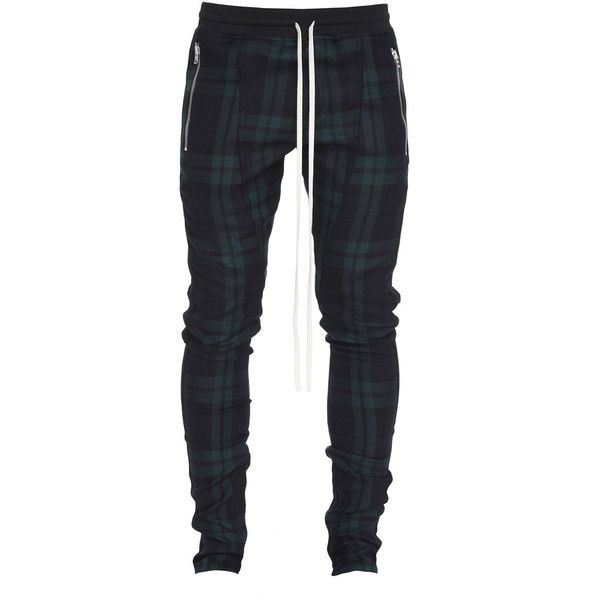 Fear of God Tartan Wool Plaid Trousers ($995) ❤ liked on Polyvore featuring men's fashion, men's clothing, men's pants, men's casual pants, green, men's 5 pocket pants, mens plaid pants, mens zip off pants, mens zipper pants and long rise mens pants
