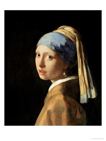 Girl with a Pearl Earring, circa 1665-6 by Jan Vermeer. Giclee print from Art.com.