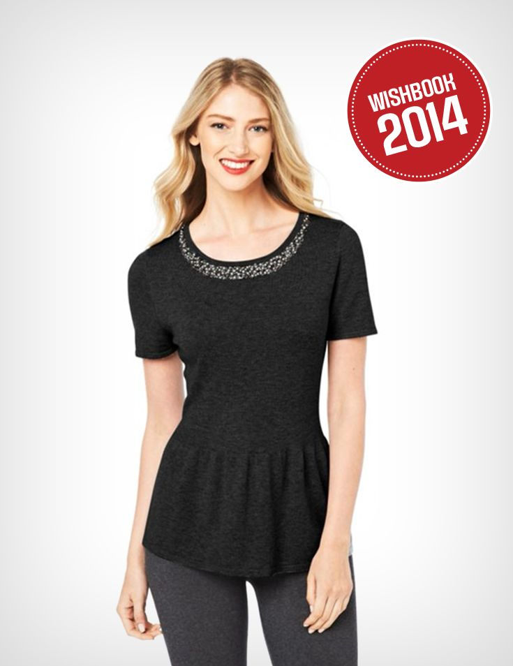From fall through winter, this comfortable peplum-style top is great for any occasion!