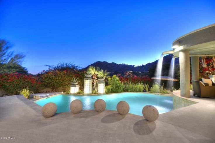 17 Best Images About Jaw Dropping Backyard Pools In Scottsdale Paradise Valley Homes On