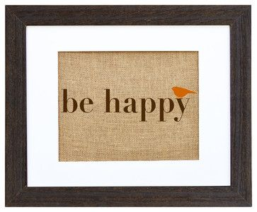 Be Happy Art - eclectic - prints and posters - Fiber and Water