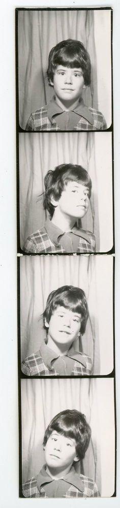 Uncut strip, boy with various head gesture Vintage photo booth - photobooth