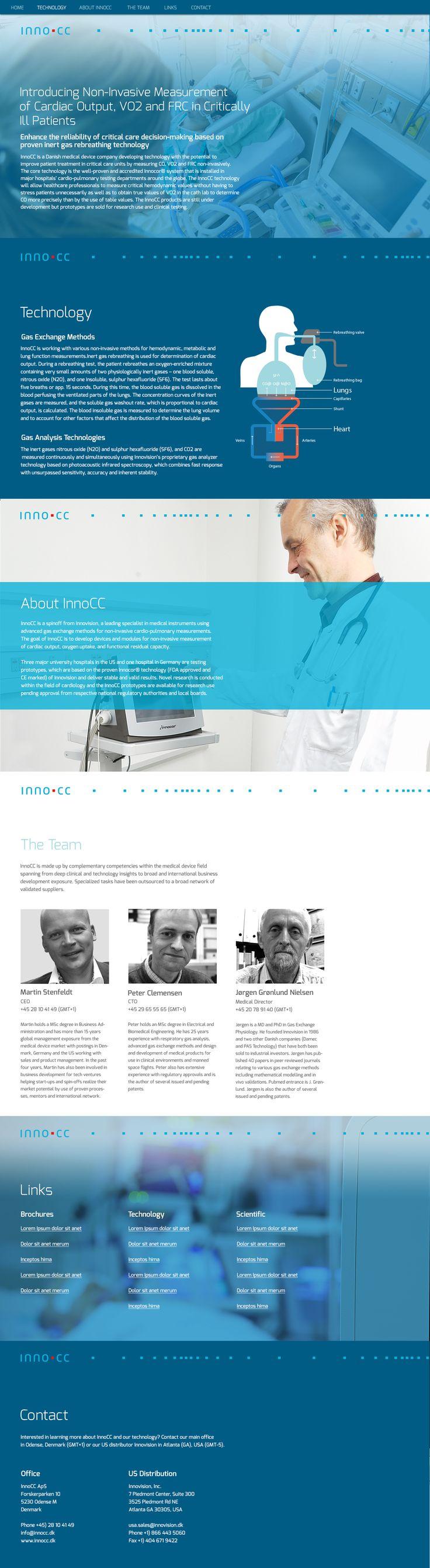 Die Struktur der Website ist klar und übersichtlich. Mit großen Bildern und starken Farben.