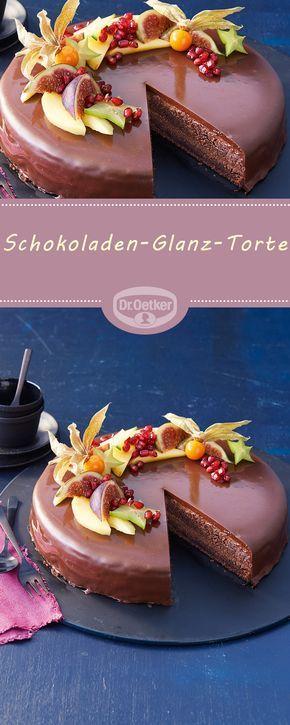 Schokoladen-Glanz-Torte Schokoladentorte, überzogen mit einer edlen Glanzglasur