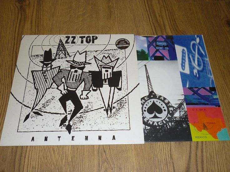 ZZ TOP - Antenna - VINYL LP with BONUS TRACK , INNER & STICKERED SLEEVE