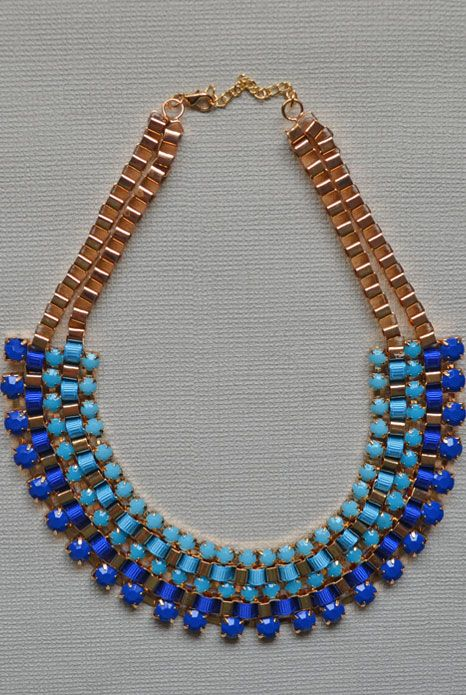 Layers Blue Collar Necklace $29 Available at www.aneva.com.au Free shipping Australia wide 19cm in length with a 2cm chain extender.