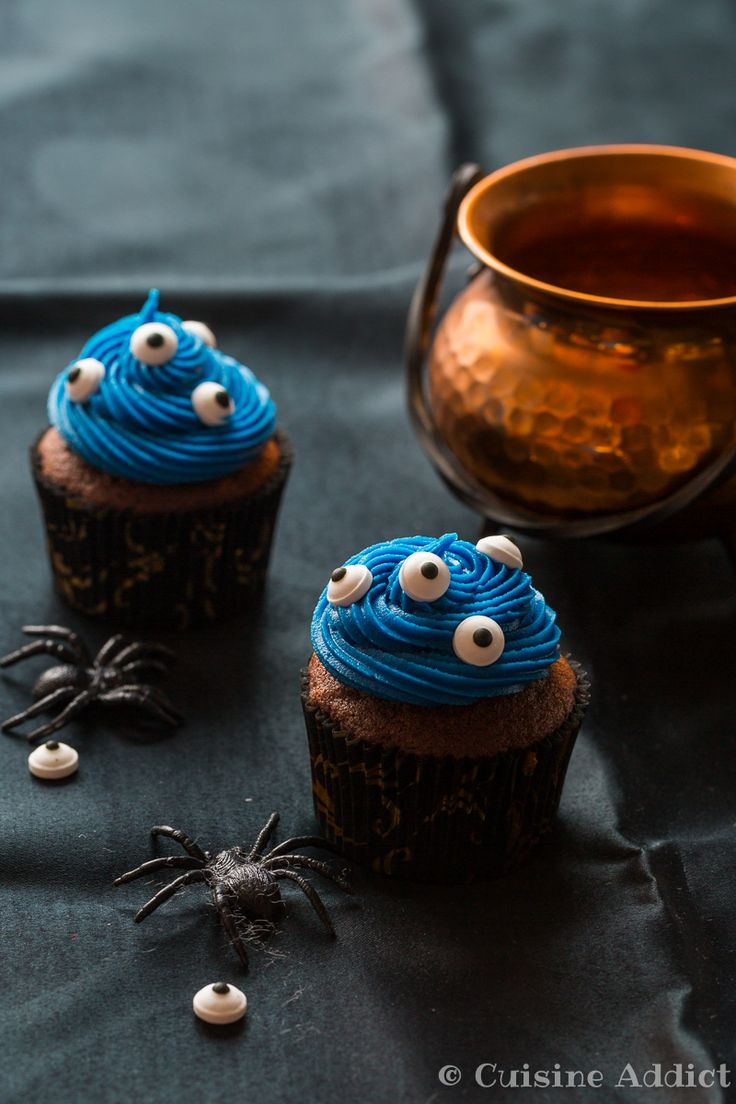 Cupcakes au Chocolat et aux Yeux - Cuisine Addict