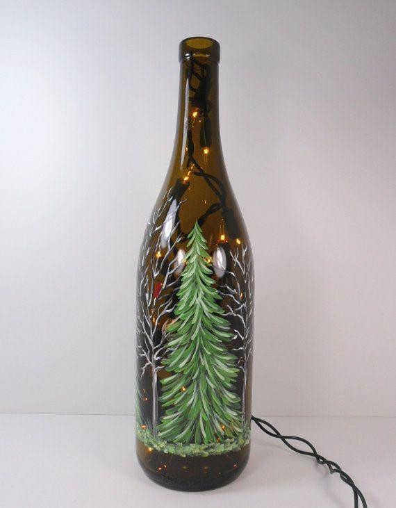 The 25 best lighted wine bottles ideas on pinterest for Lighted wine bottle craft