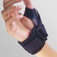 Florida Orthopedics Tether Thumb Stabilizer, Black, Choose Right or Left by Florida Orthopedics. $13.02. Ideal for use on soft tissue injuries, ligament strains, Gamekeeper's thumb, osteoarthritis, and degenerative joint disease.. Allows for full finger dexterity. Thermal lining provides warmth to the thumb area and joint.. Helps support and limit the motion of the MP joint of the thumb.. Specify right or left. Color: Black.. Measure the width of the hand.. Helps...