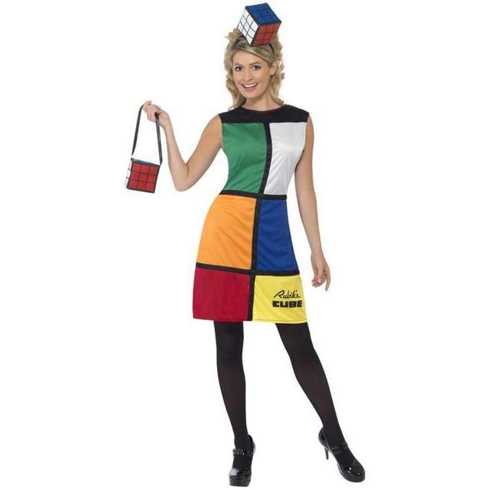 Disfraz de cubo de Rubik para mujer
