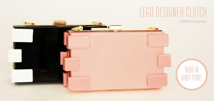 Lego Designer Clutches! Shop online now at niclaire.com.au #niclaire #fashion #clutchbag #eveningbag #lego #chanelstyle