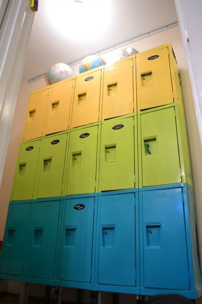I found these lockers at the Habitat ReStore and knew they'd be perfect for toys! Repurposing old lockers for storage is a fun storage solution!