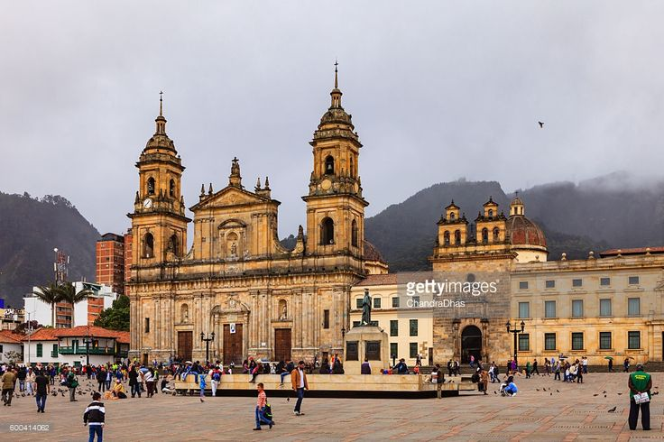 Stock Photo : Bogota, Colombia - Plaza Bolivar Classical Spanish Colonial Architecture