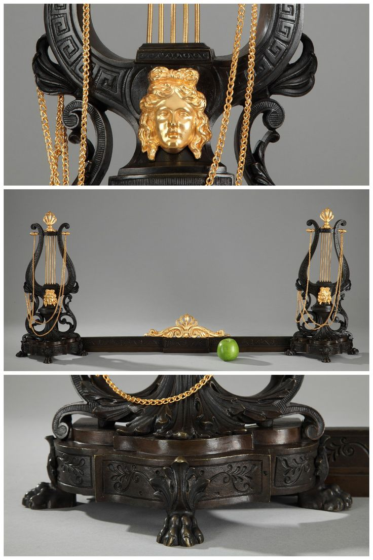 372 best andirons chenets images on Pinterest | Bronze ...